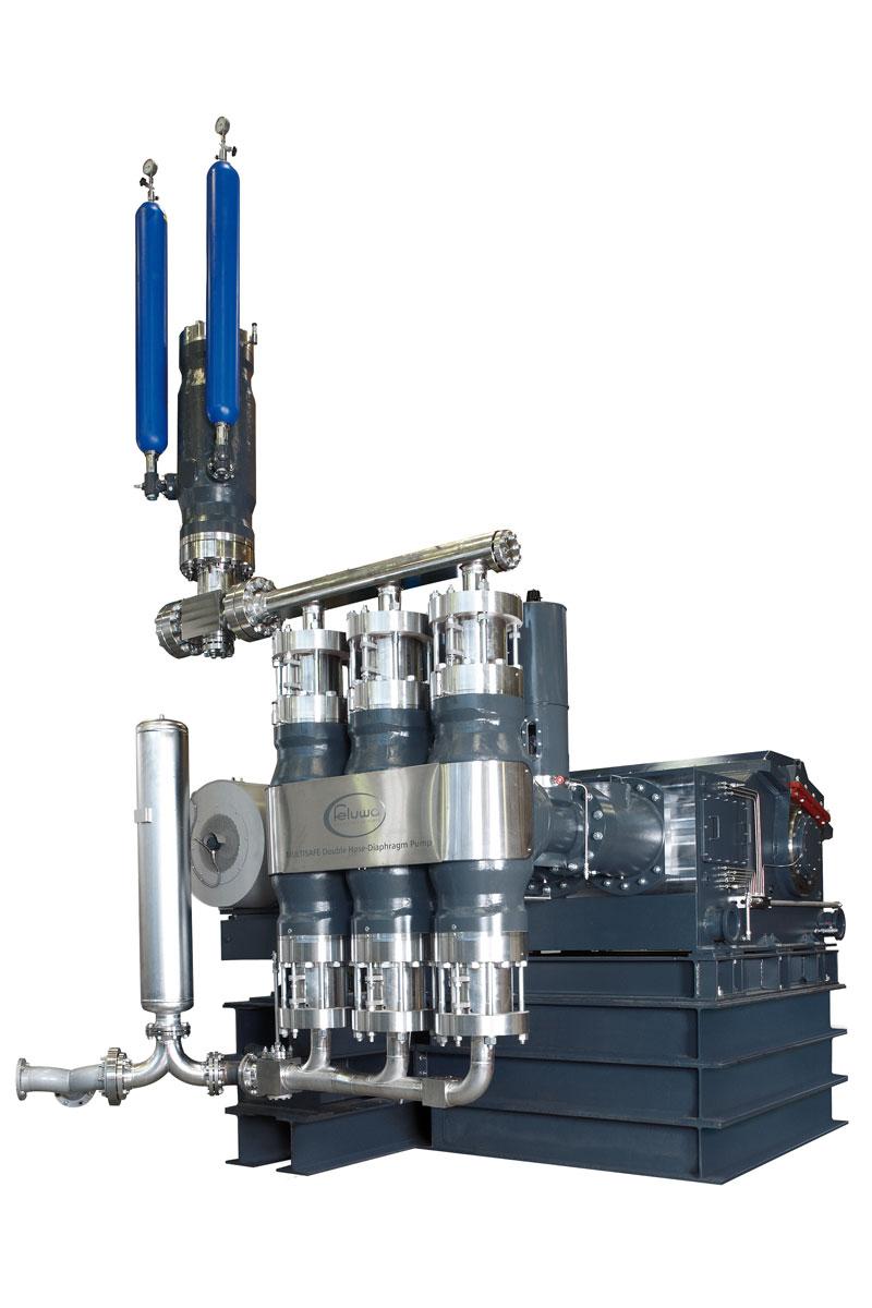 MULTISAFE Double Hose Diaphragm Pump Triplex Design